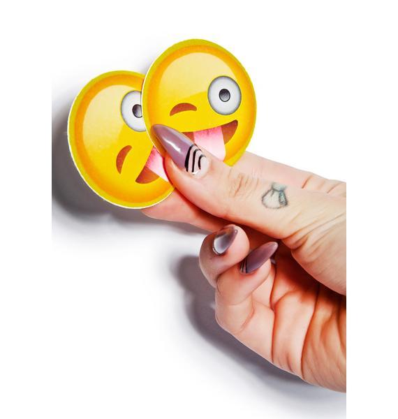 Crazy Face Emoji Pasties