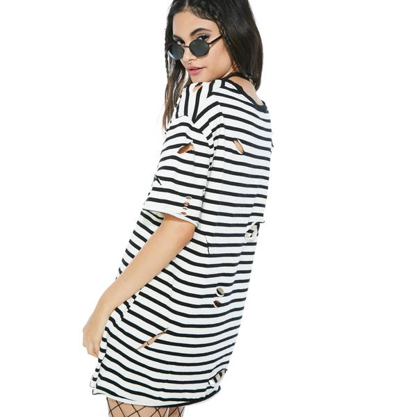 Pressure Drop Stripe Tee