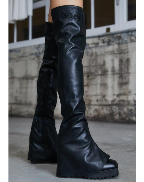 Kickdrum Thigh High Pant Boots