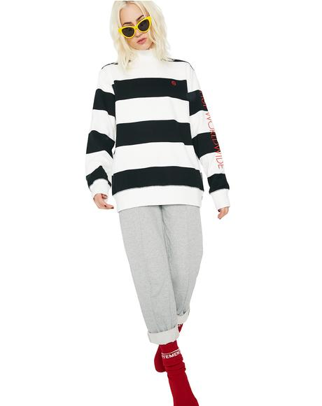 Catalina Stripe Crew Fleece