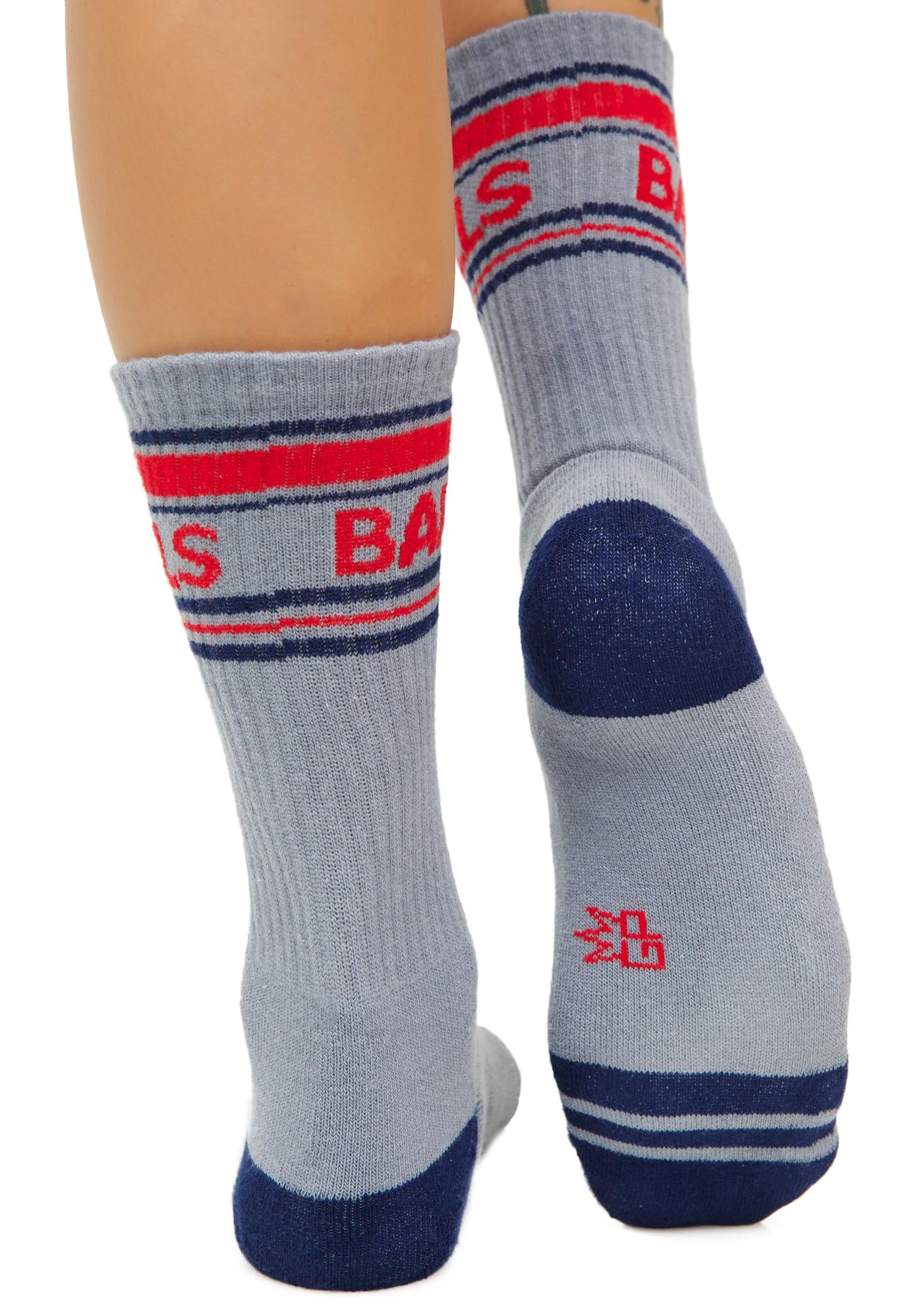 Gumball Poodle Balls Athletic Crew Socks