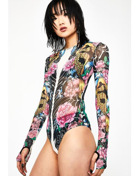 Deadly Diva Tattoo Bodysuit