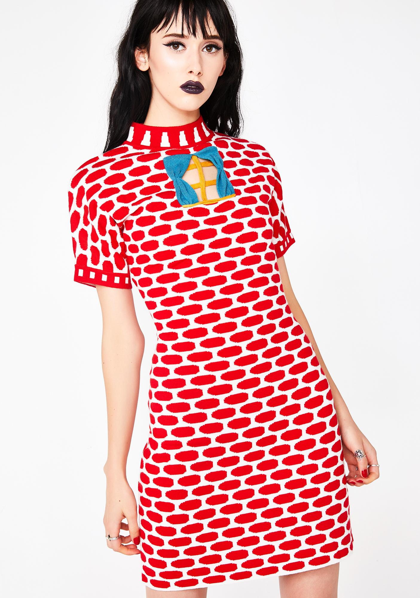 e66744f9c871 Penelope Gazin Brick House Knit Sweater Dress
