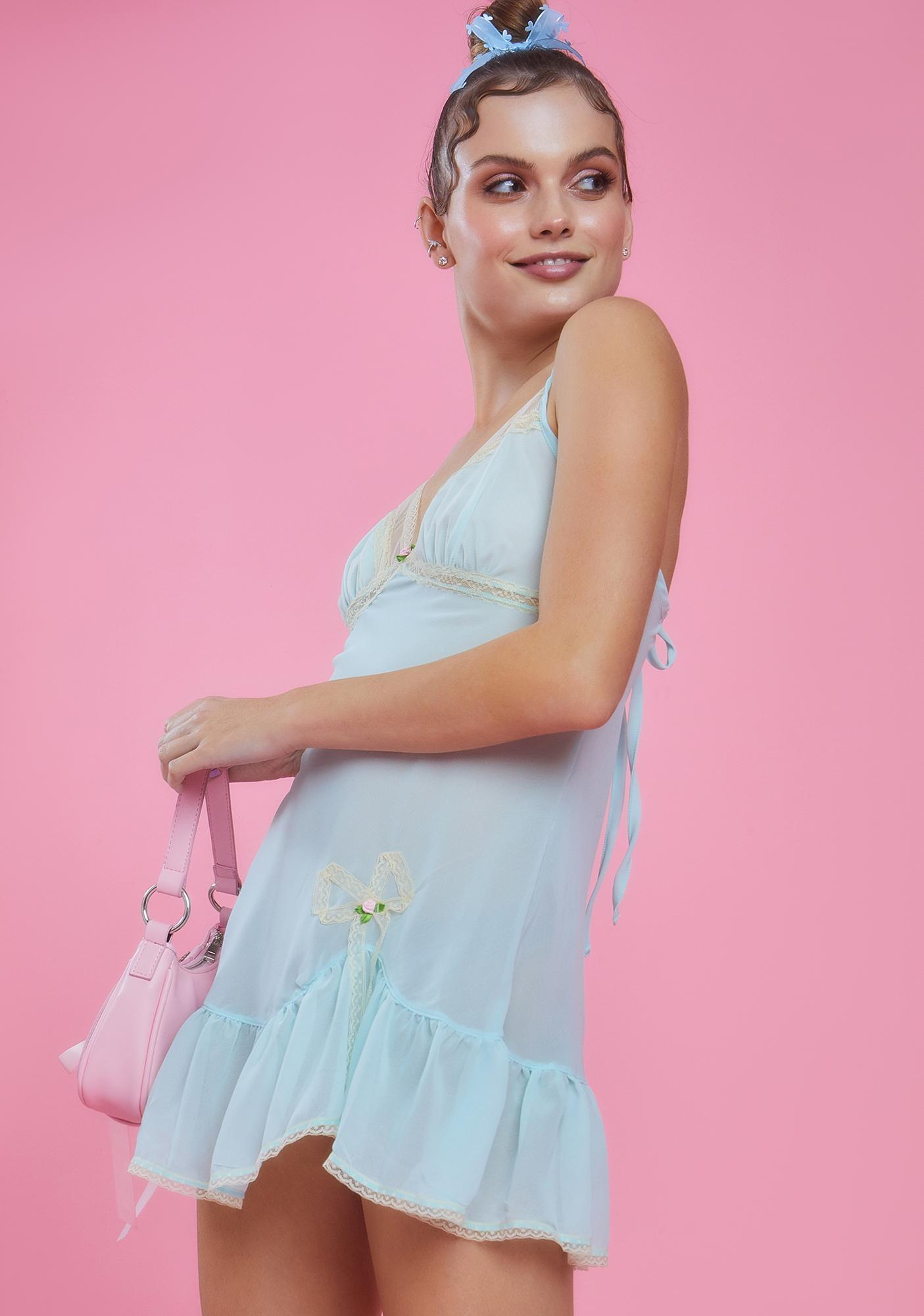Sugar Thrillz Gloss And Turn Babydoll Dress
