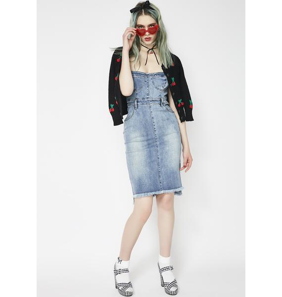 Twiin Bella Strapless Denim Dress