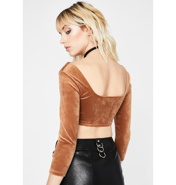 Secret's Out Velvet Top
