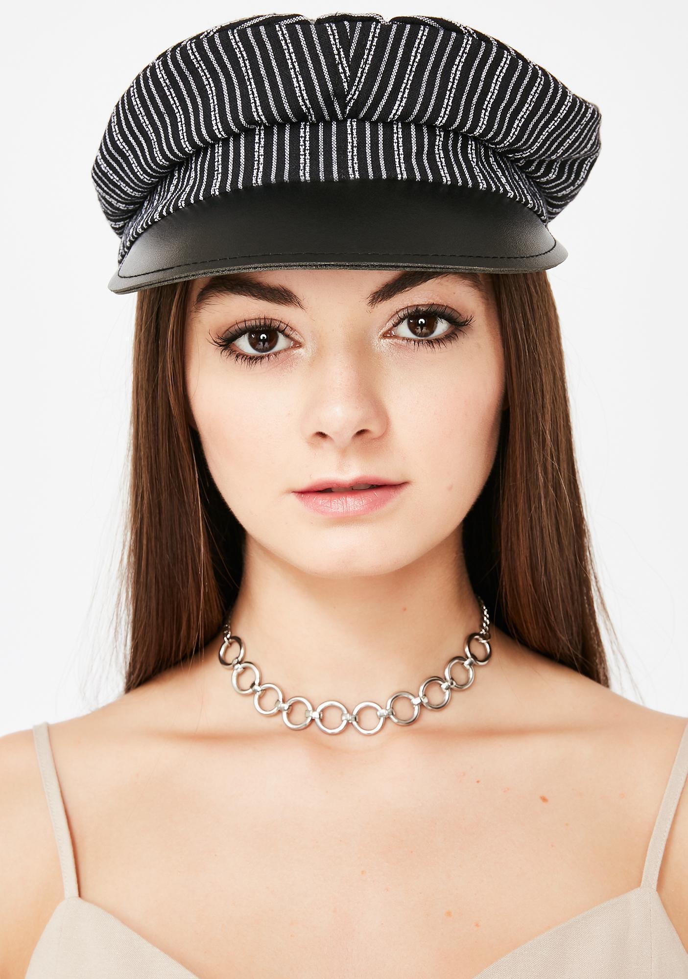 Speakeasy Striped Baker Boy Hat