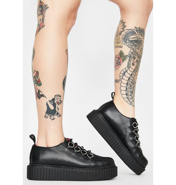 Lamoda Blackout Wreckless O-Ring Creepers