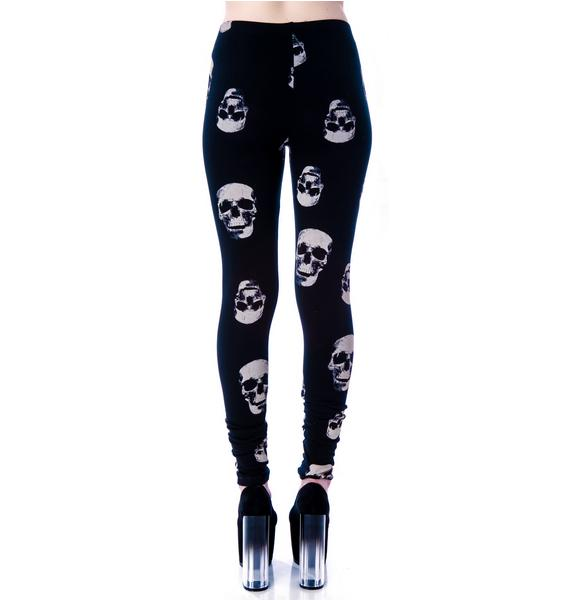 Lip Service Skull Print Leggings