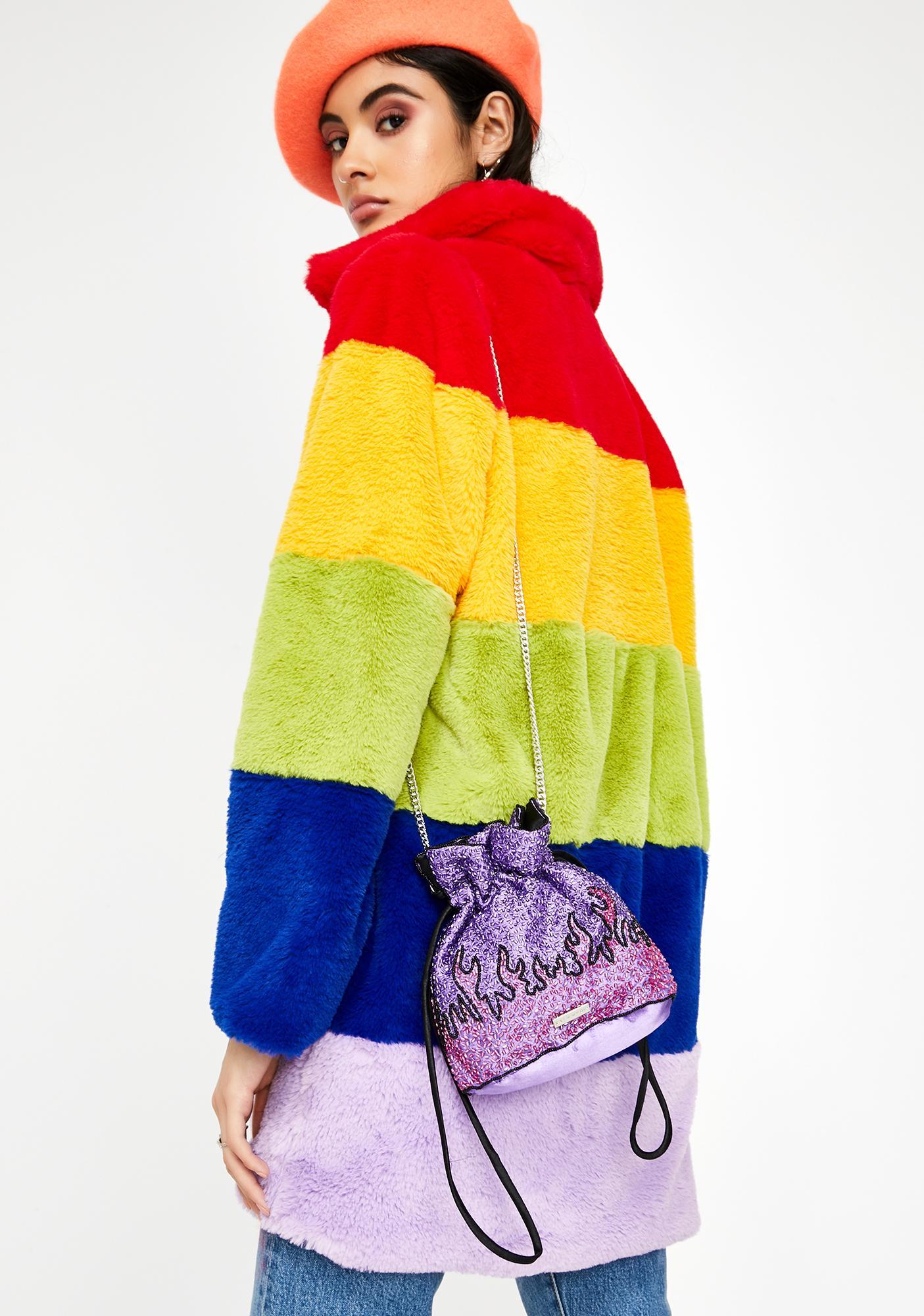 Skinnydip Tilly Flames Shoulder Bag
