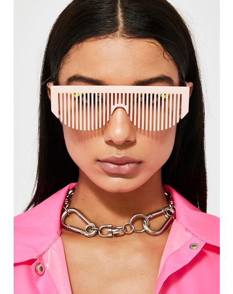 Sweet Party Rockers Comb Sunglasses