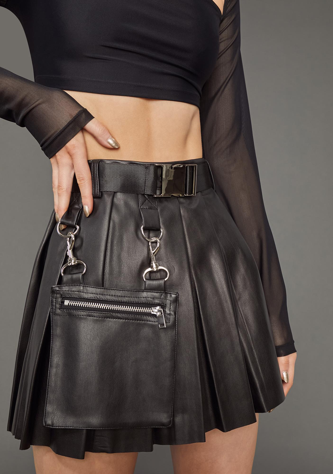 Poster Grl Ready For Action Pleated Skirt