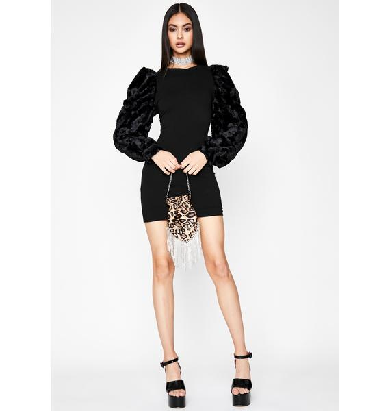Added Drama Faux Fur Dress