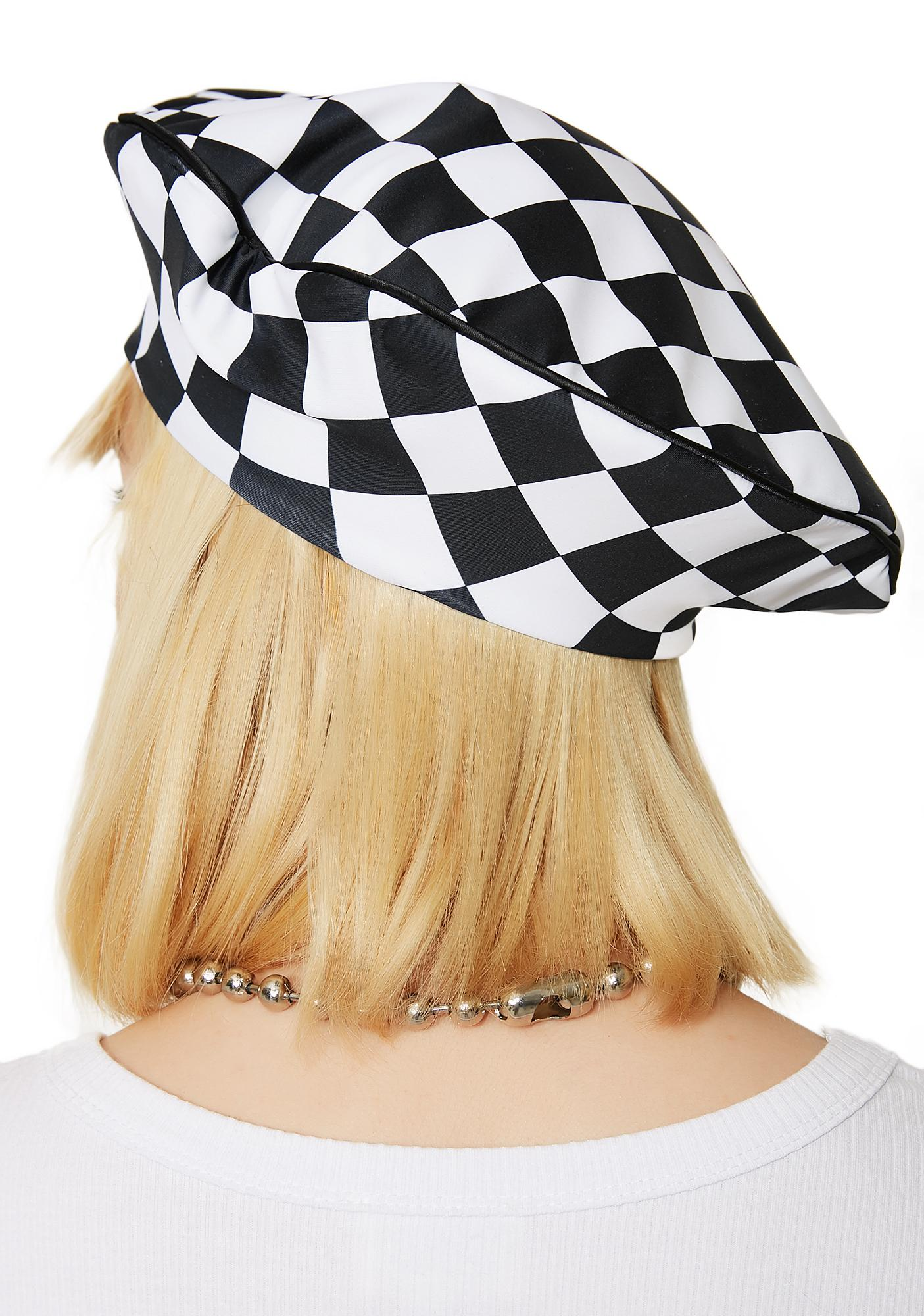 Tailspin Checkered Beret