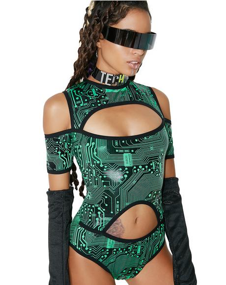 Circuit Trippin' Cut-Out Bodysuit