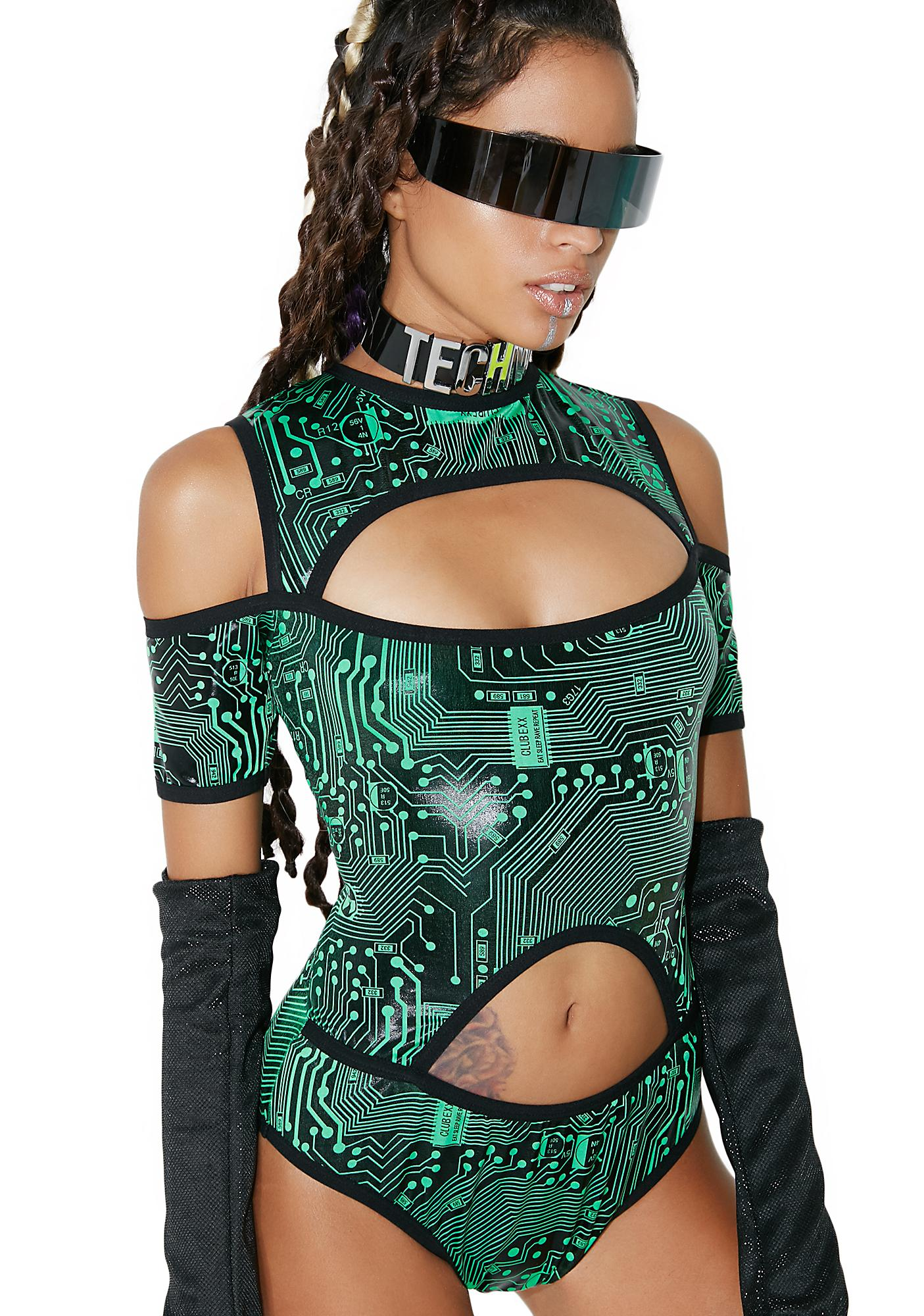 Club Exx Circuit Trippin' Cut-Out Bodysuit