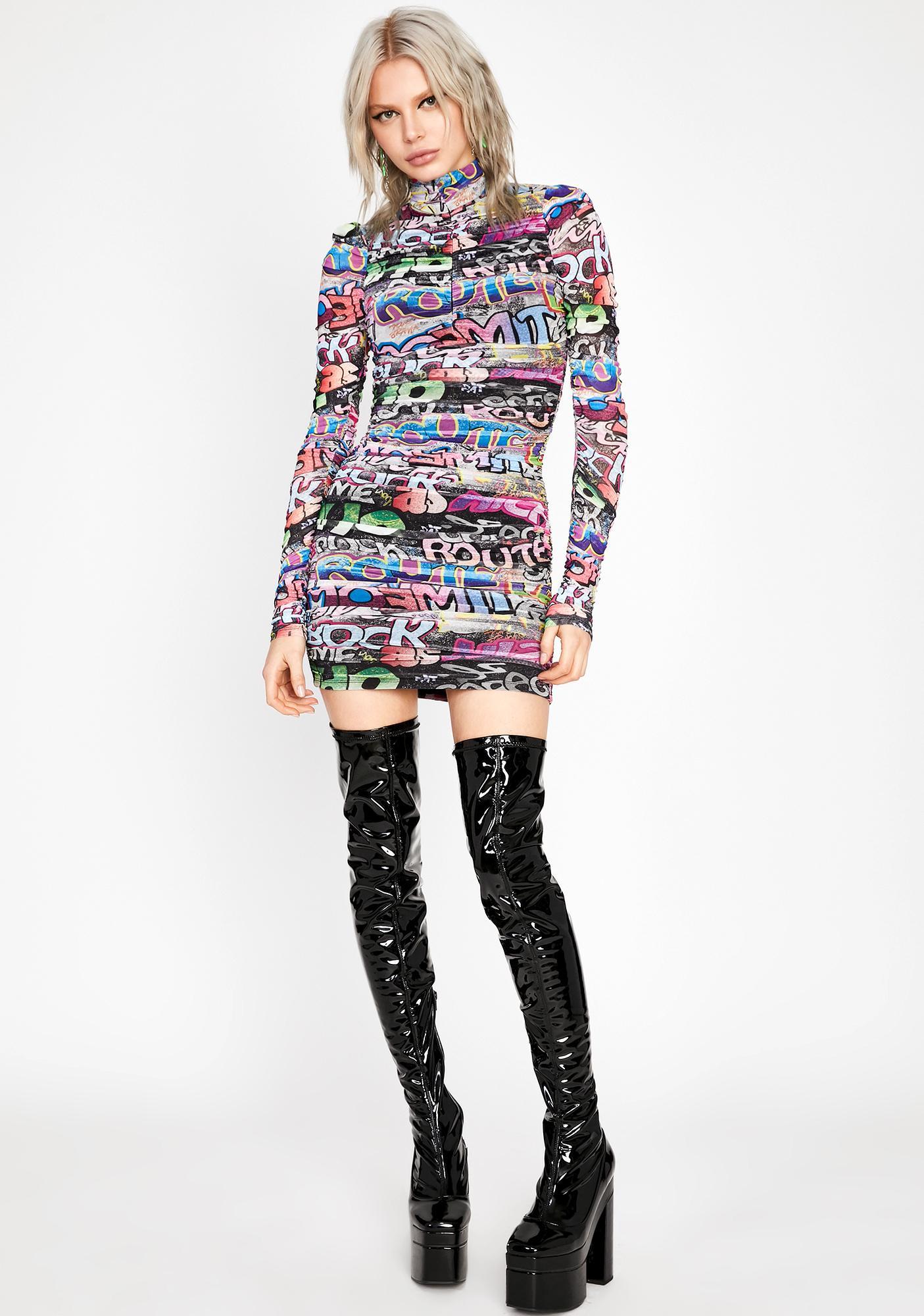 Urban Melody Ruched Dress