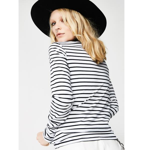 Lazy Oaf Happy Face Stripey Long Sleeve