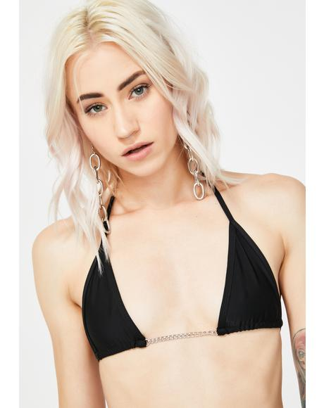 Sabbath Black Chain Bikini Top