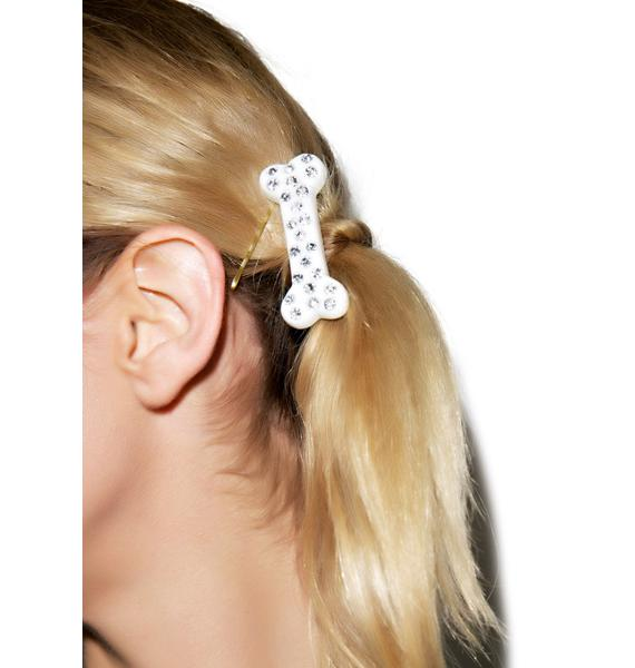 Kreepsville 666 Diamonte Mini Bone Hair Clips