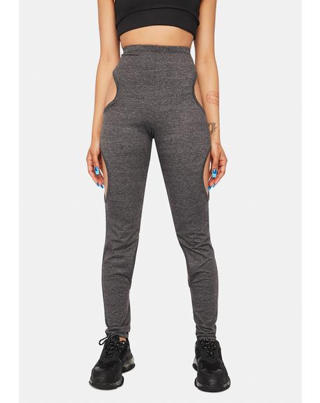 Charcoal It's A Deal Cut Out Pants
