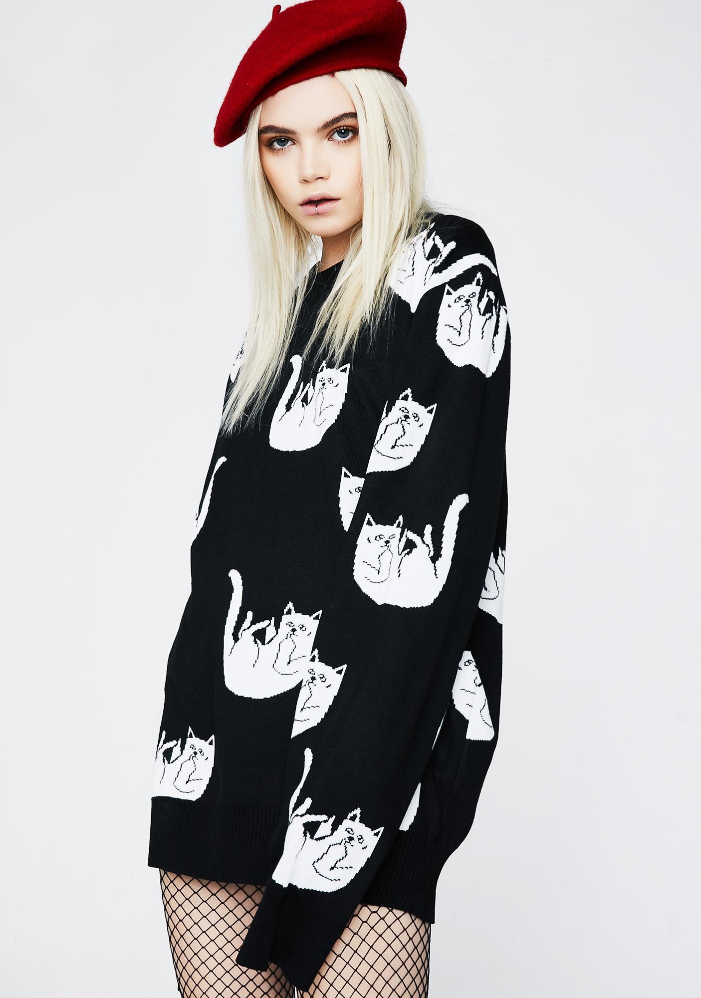 RIPNDIP Onyx Falling For Nermal Knit Sweater