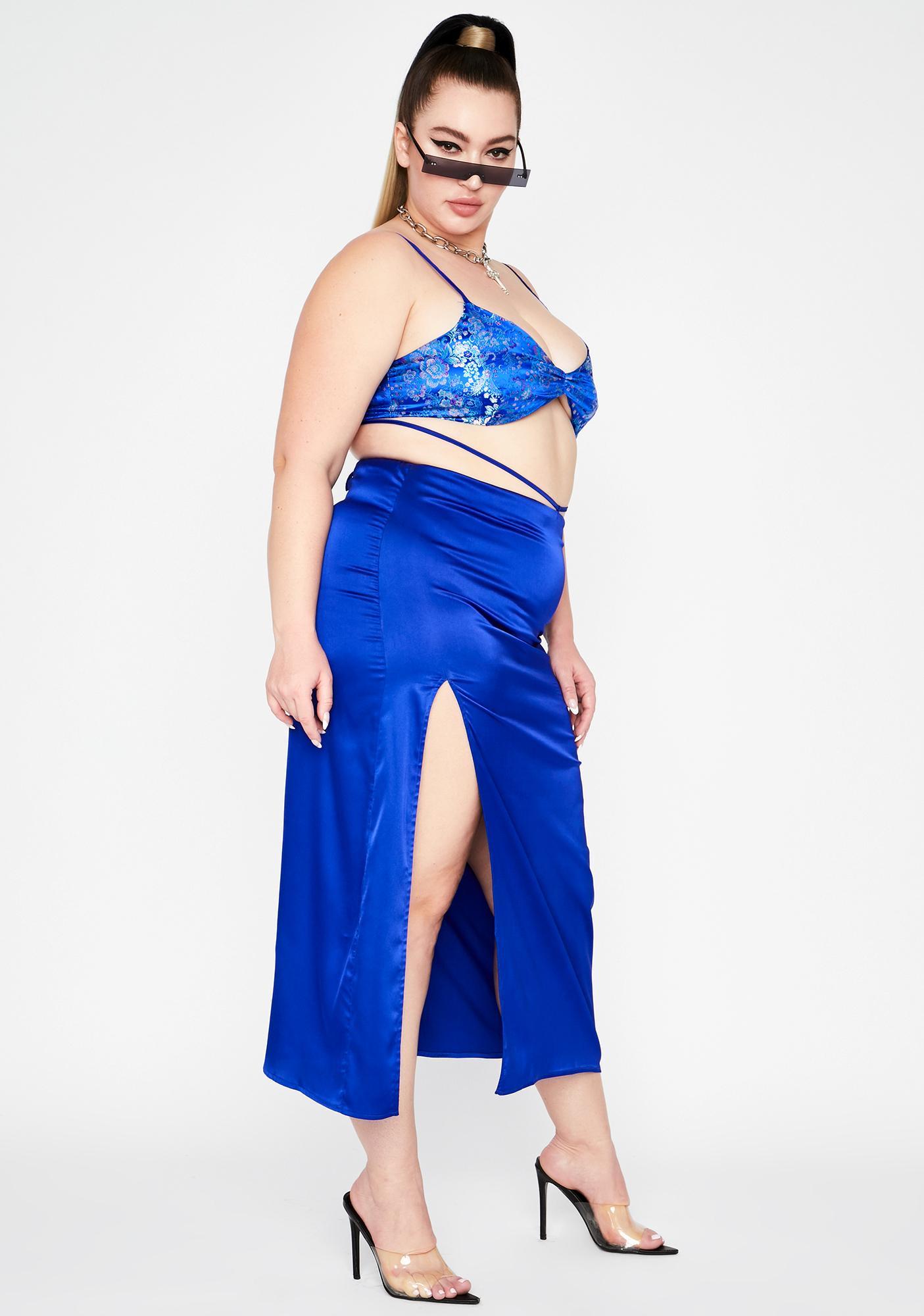 Aqua Lux After Hours Dancer Satin Set
