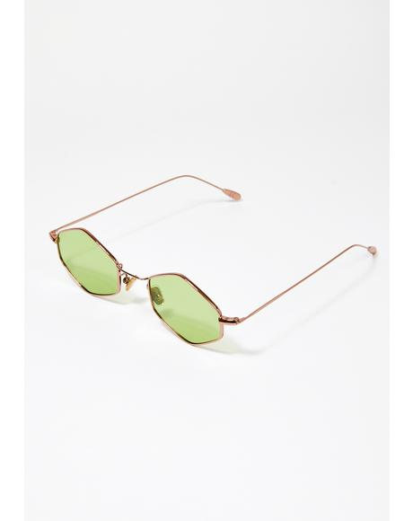Green Ford Wire Frame Sunglasses