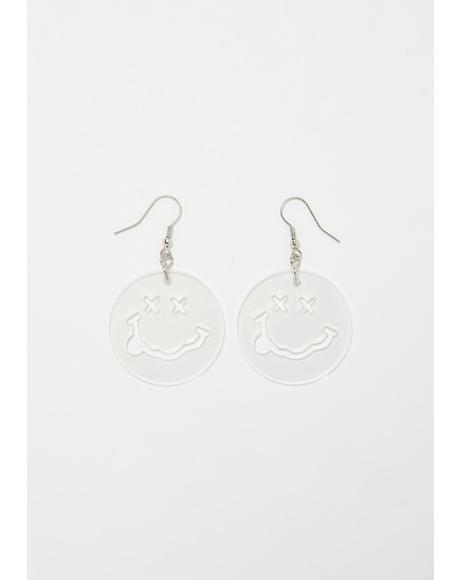 Ego Trip Happy Face Earrings