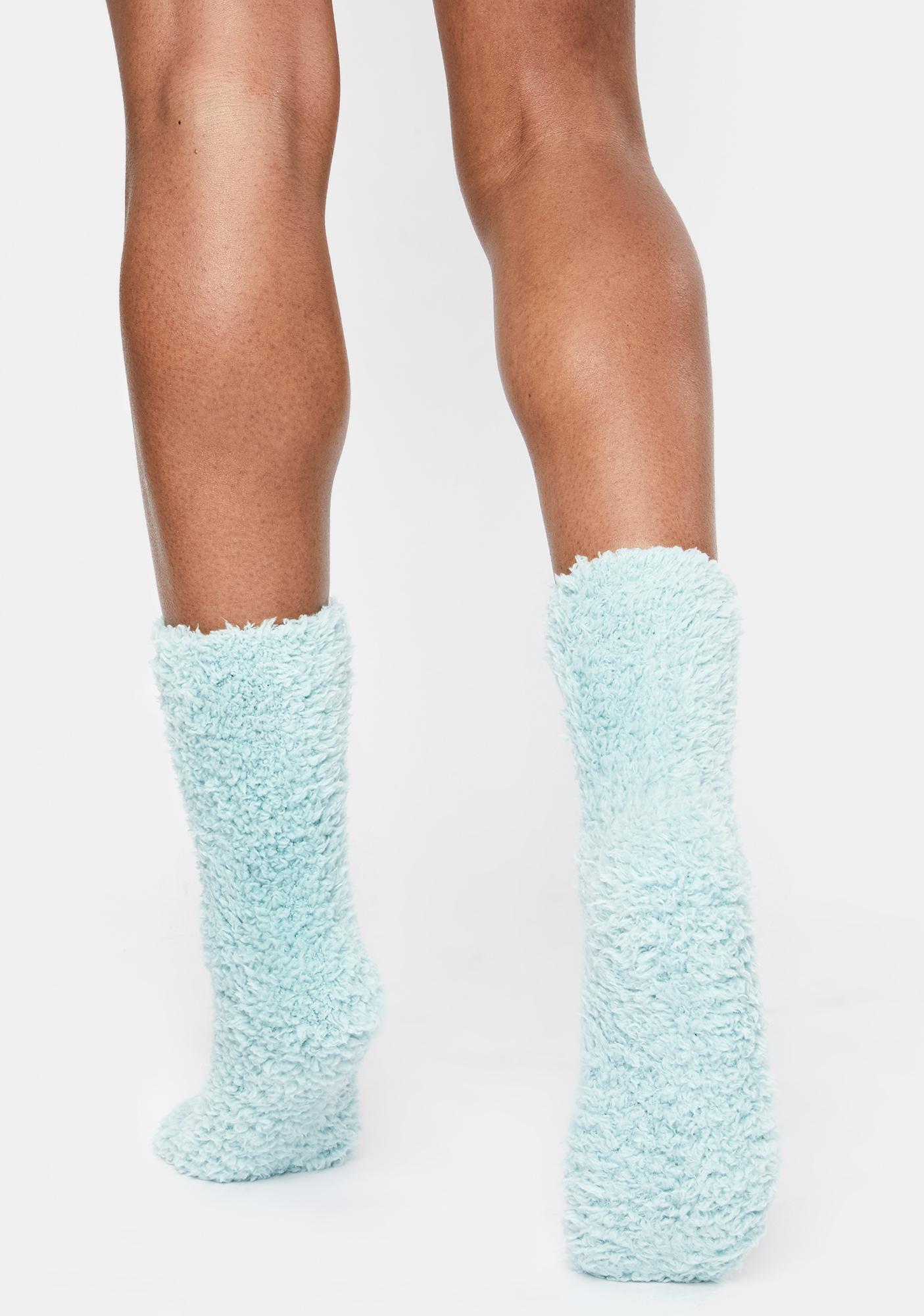 MeMoi Teddy Bear Plush Crew Sock