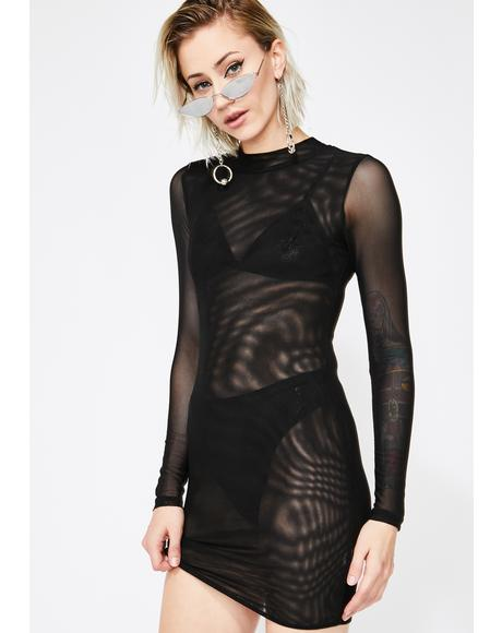 Night Meshin' Around Bodycon Dress