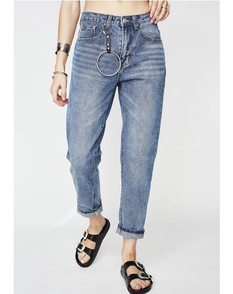 O Ring Chain Jeans