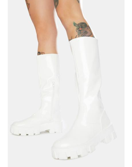 Karma Chunky Sole Knee High Boots