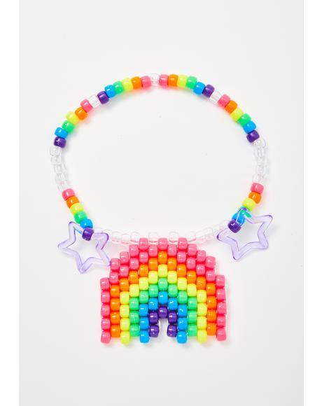 Rainbow Kandi Choker