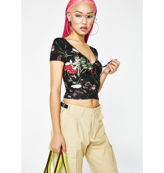 Garden Party Cinched Top
