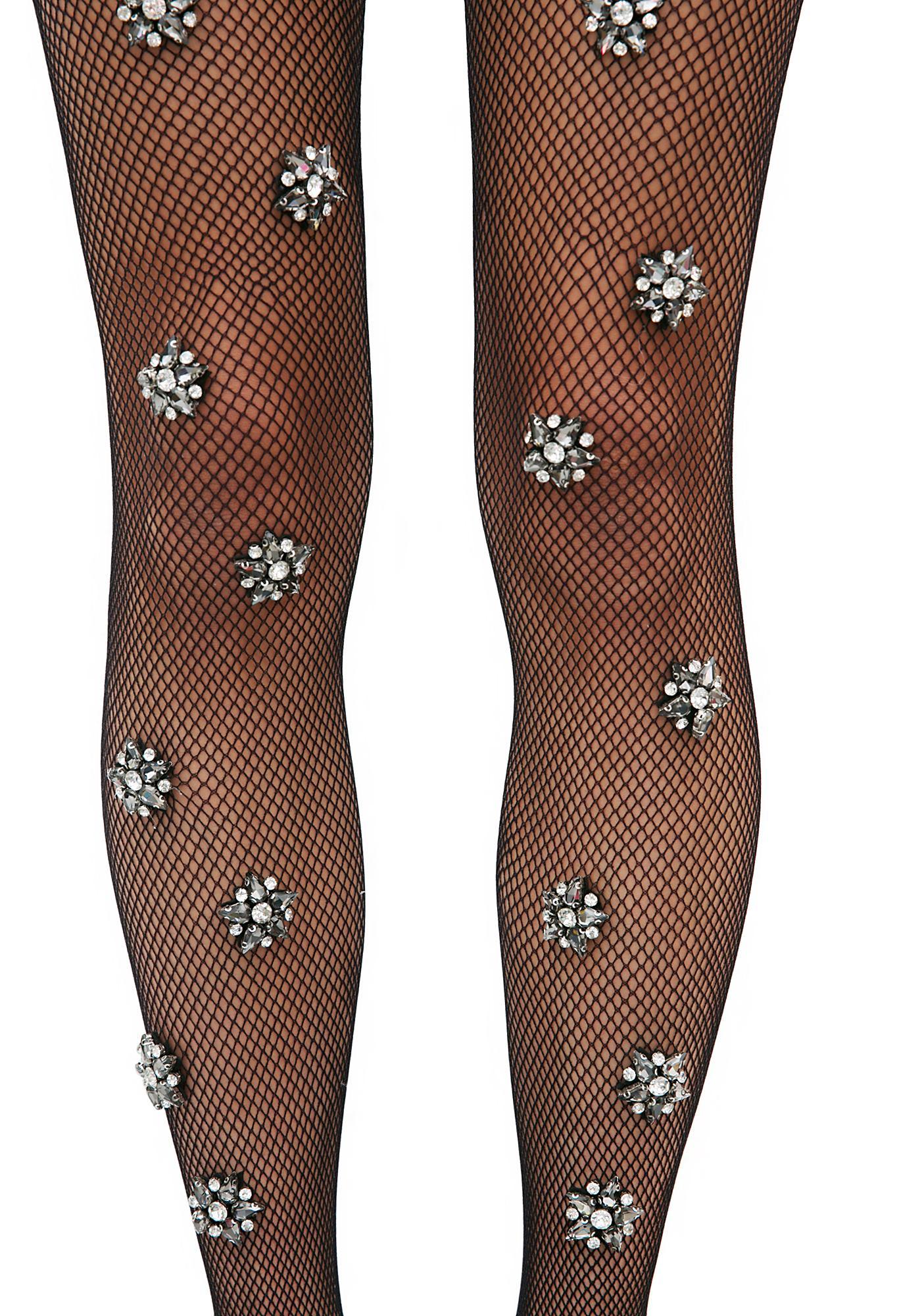Lirika Matoshi Mystical Being Crystal Fishnet Stockings