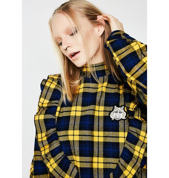 Little Sunny Bite LSB X Muppets Miss Piggy Checker Dress