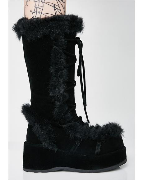 Witchy Ritual Fuzz Boots