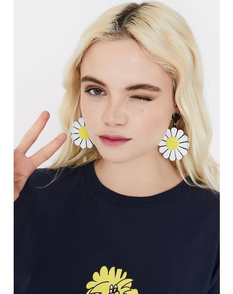 Dramatic Daisy Drop Earrings