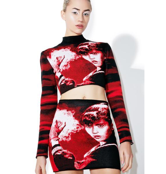 Maria ke Fisherman Knit Suke Skirt