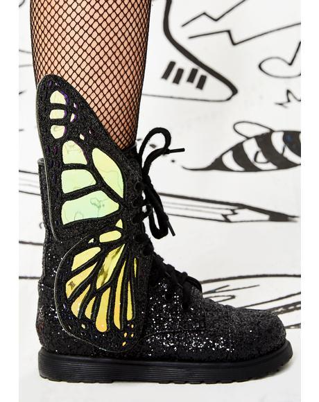 Kids Metamorphic Glitter Boots