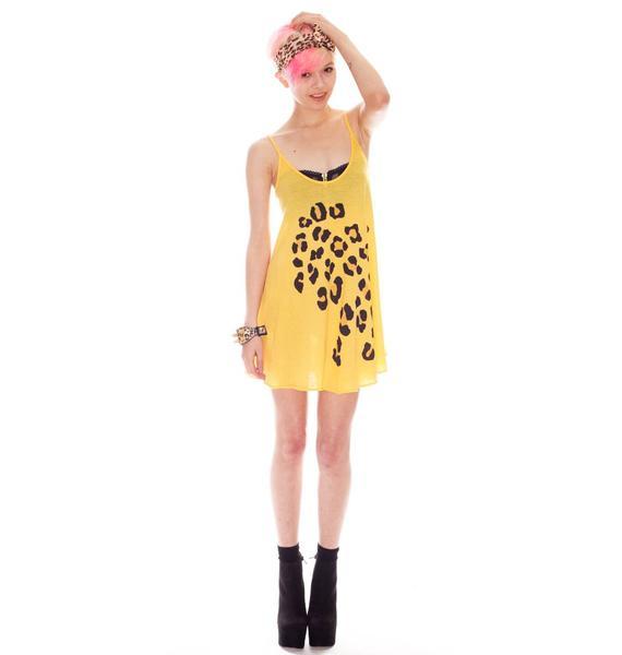 Wildfox Couture Leopard Spots Slip Dress