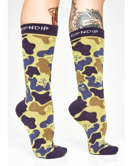 Tropic Nerm Camo Socks
