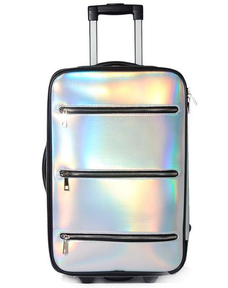 Space Traveler Holographic Suitcase