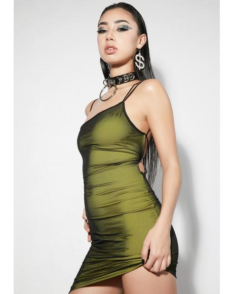 Envy Split Screen Asymmetrical Mini Dress