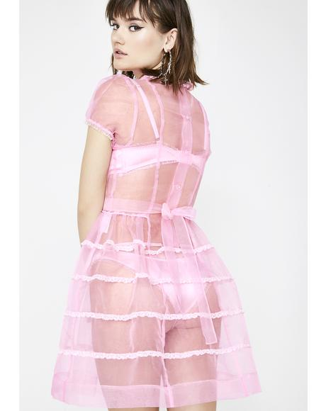 Innocently Lovestruck Organza Dress