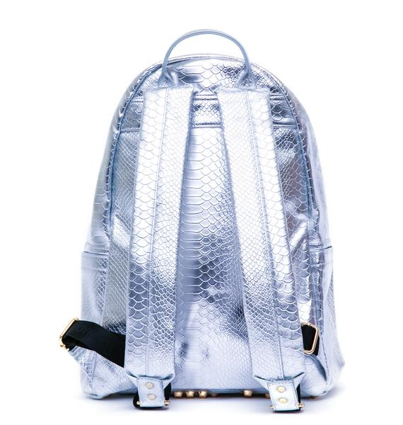 Joyrich Metallic Python Backpack