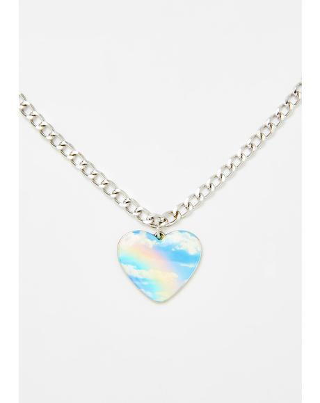 Blissful Fantasy Heart Necklace