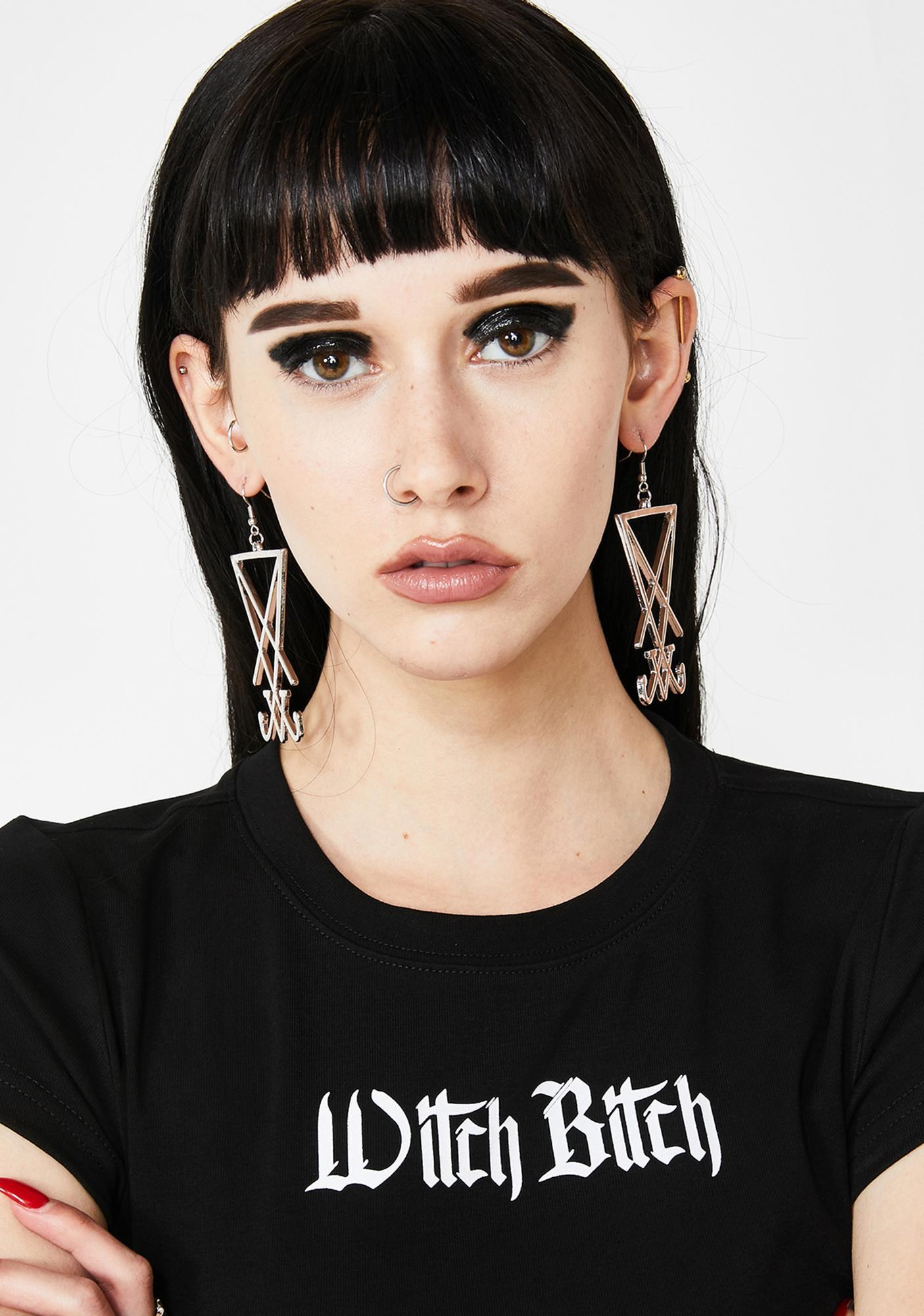 Sigil Of Lucifer Earrings