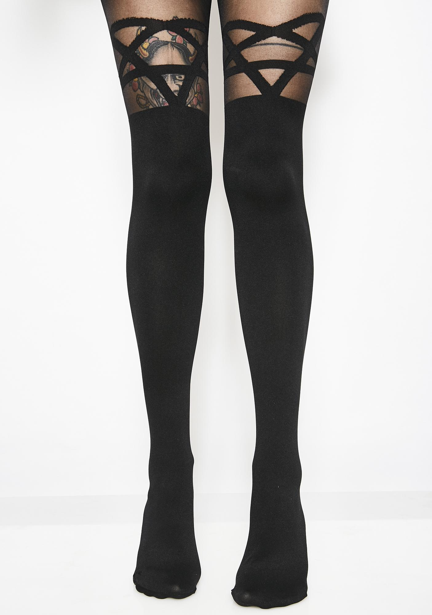 Killstar Elodie Edge Tights